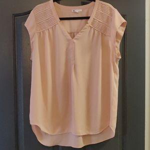 Pleated shoulder blouse